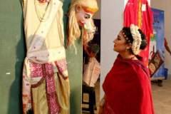 Sattriya danseuse Dr. Mallika Kandali glimpses at the Aharya exhibition on Ankiya Bhaona held at Srimanta Sankaradeva Kalakshetra, Guwahati, 2016