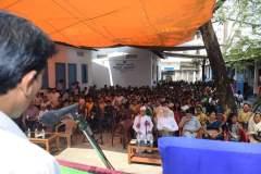 Uttam Terron addressing to the audience of Smaronexu, 2017 held in Parijat Academy, Guwahati